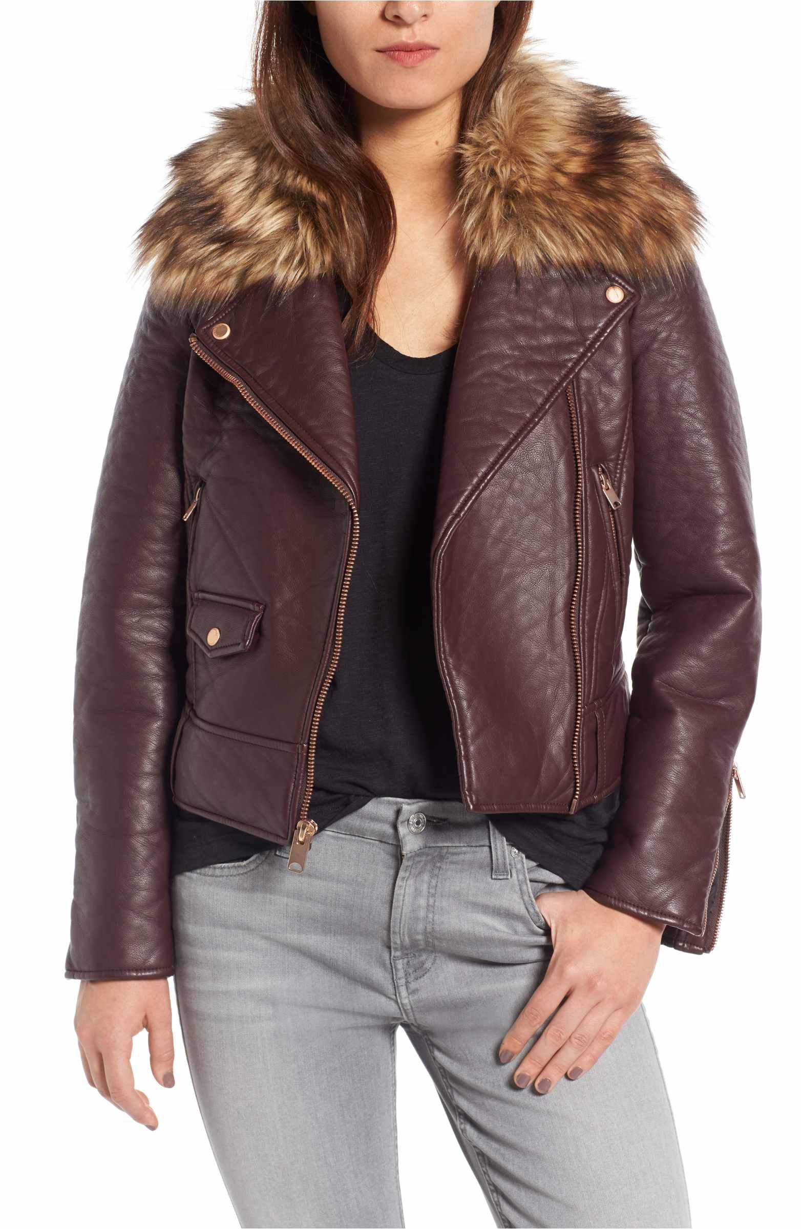 Main Image Andrew Marc Beverly Faux Leather Jacket with