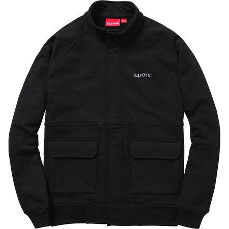Supreme Fleece Warm Up Jacket Black