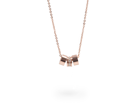 Mia delicate rose gold necklace hypoallergenic ROSE GOLD