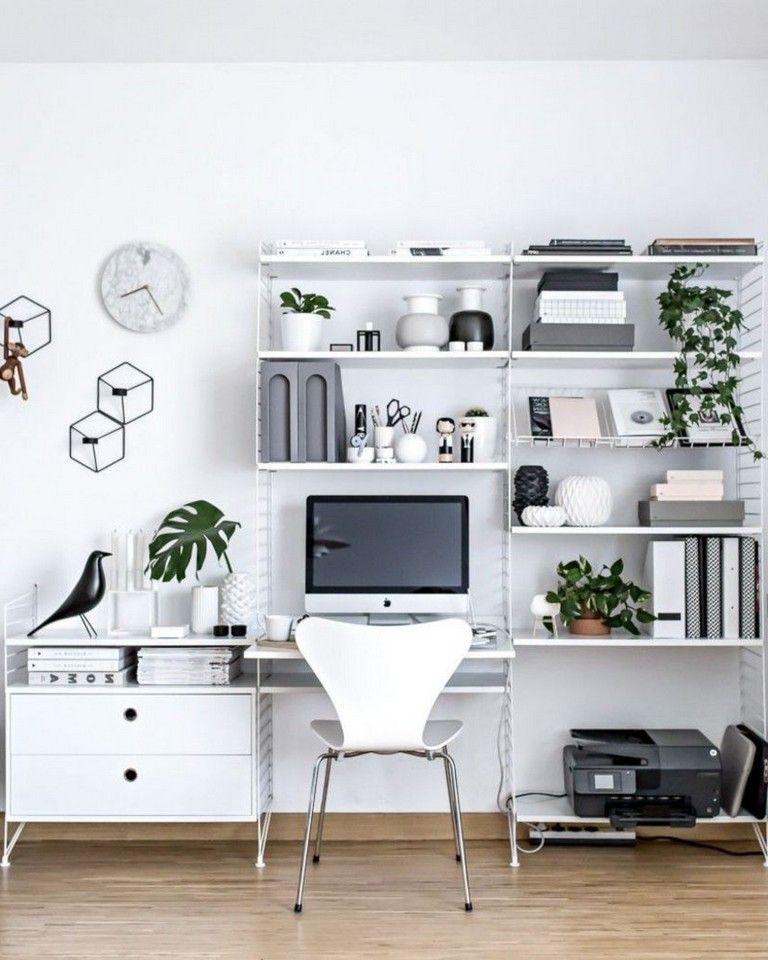 40 Good Scandinavian Home Office Designs That Inspire Minimalist Home Home Office Design Stylish Bedroom Design