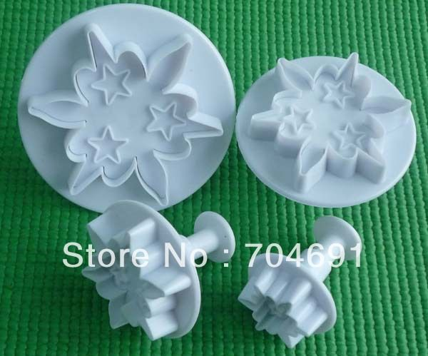New Flower Shape Cake Decorating Plunger Cutter Mold Tool Sugarcraft US $6.70