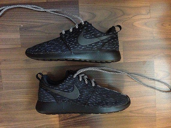 Nike Roshe Womens Black with Custom Yeezy 350 Boost Black Pirate Inspired  Design. Nike Shoe StoreShoe ...