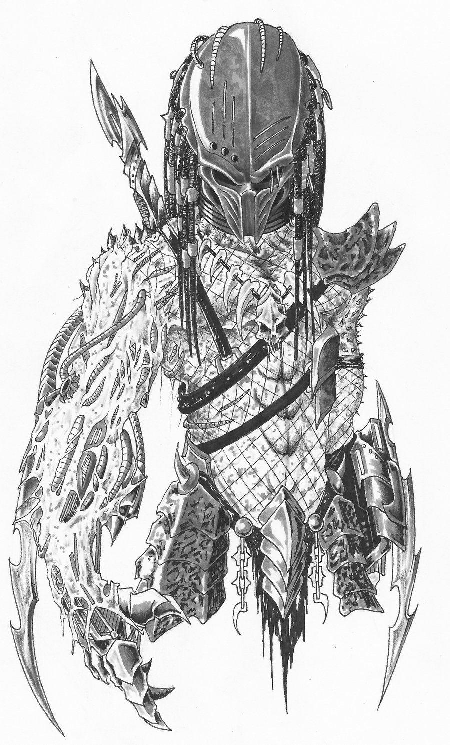 Aliens vs predator drawings google search predator