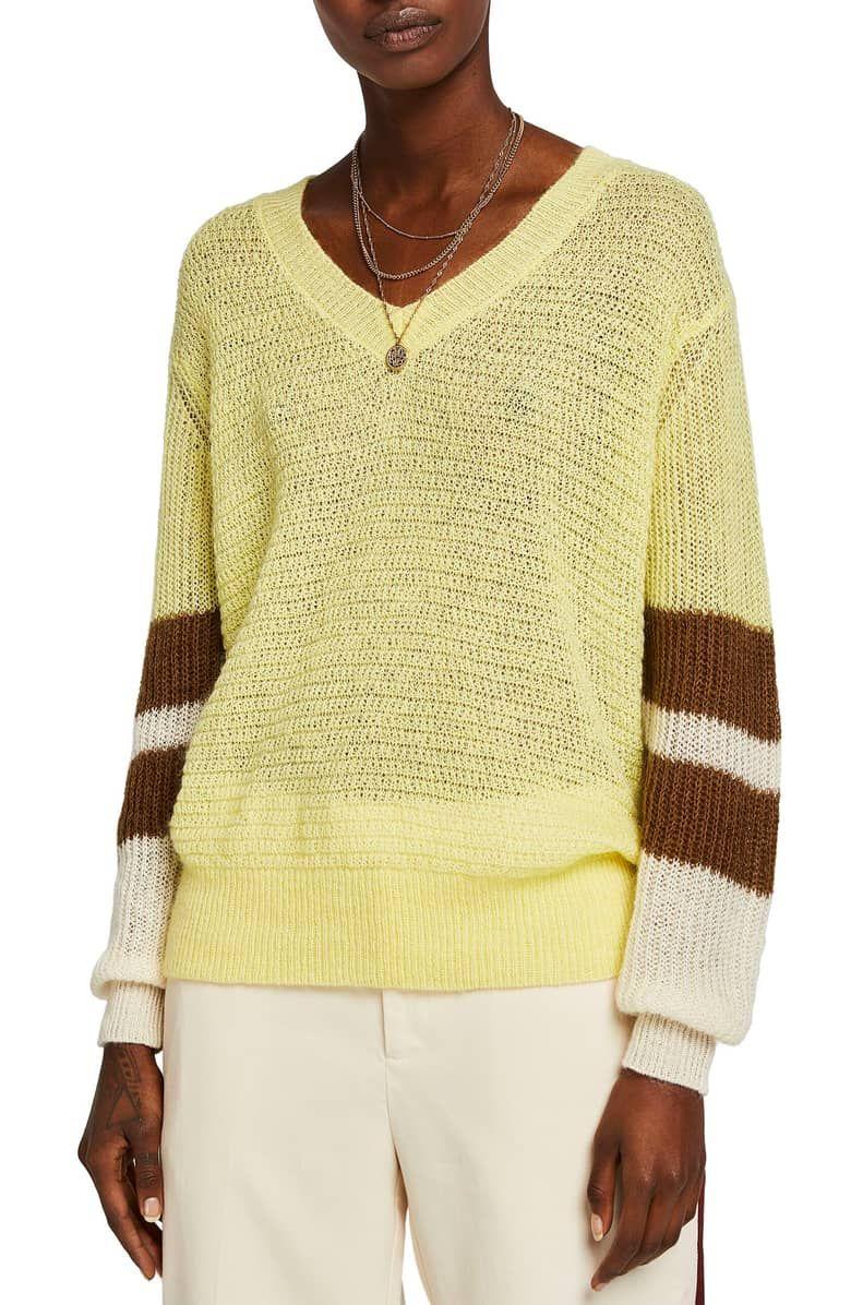 07c493e8 SCOTCH & SODA Colorblock Sweater, Main, color, CITRUS | Spring 2019 ...