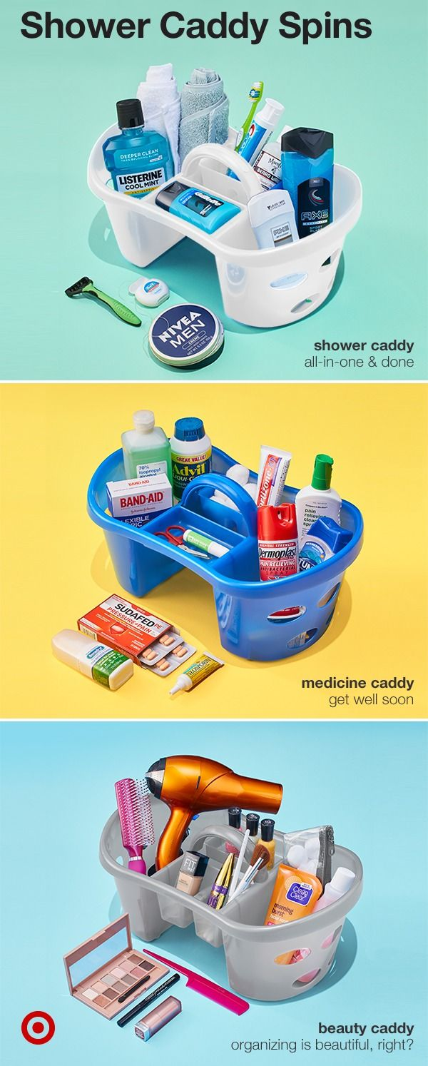 Take the classic college shower caddy to a new & organized level by ...