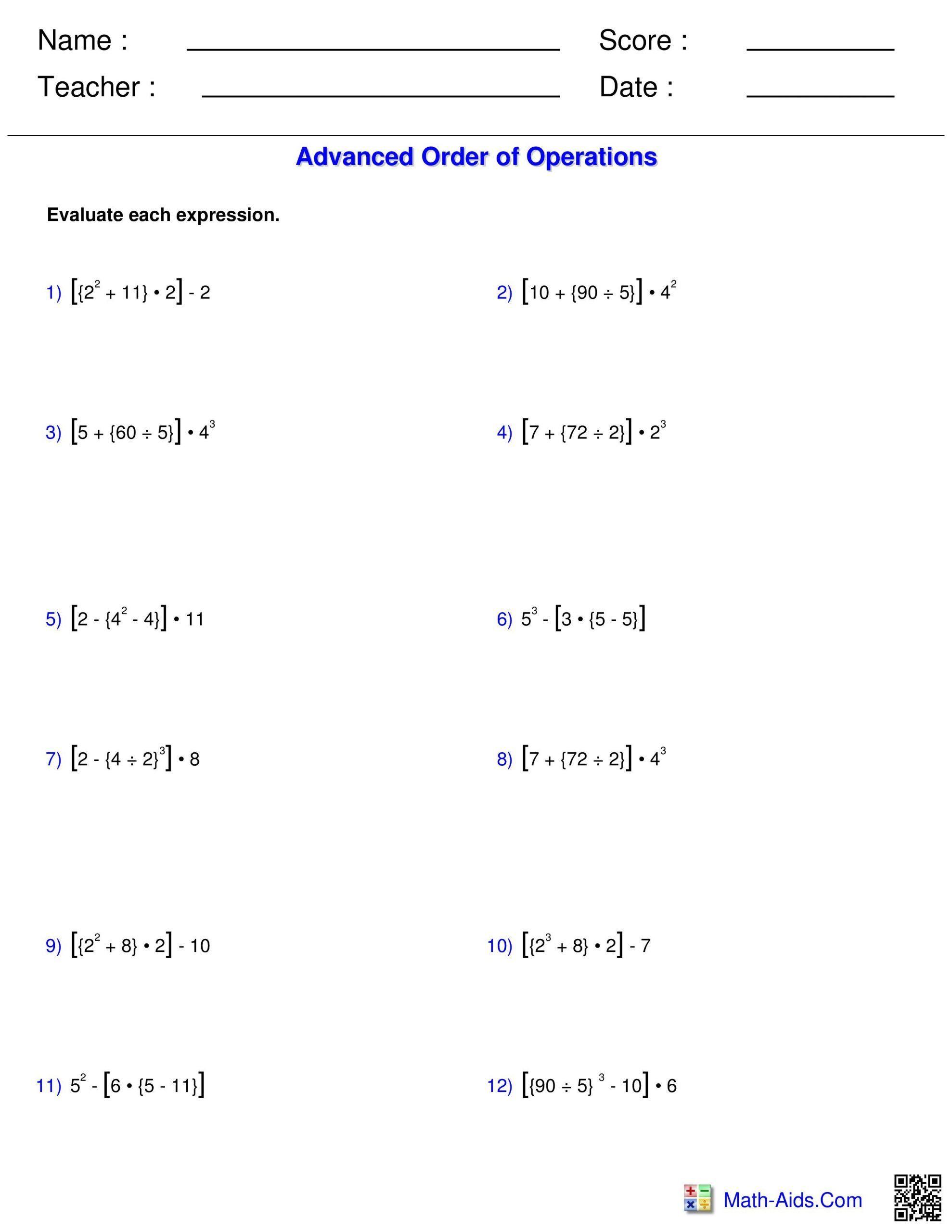 Ordering Decimals Worksheet 5th Grade A Order Of