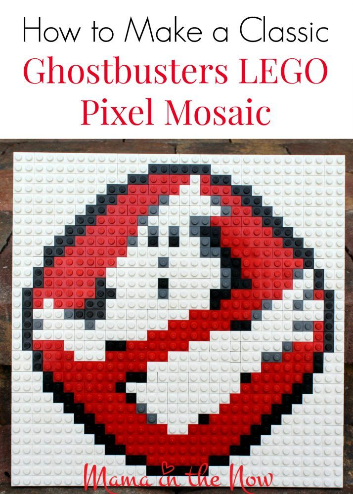 How To Make A Classic Ghostbusters Lego Mosaic Pixel Art Lego