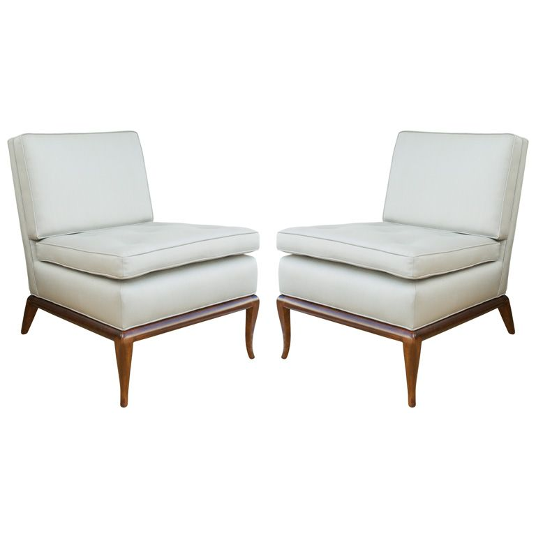 Stupendous Pair Of T H Robsjohn Gibbings Slipper Chairs Robsjohn Theyellowbook Wood Chair Design Ideas Theyellowbookinfo