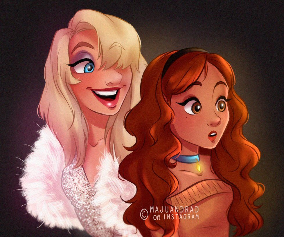 Lady And Peg From The Lady And The Tramp Disney Art Disney Fan Art Disney Characters As Humans