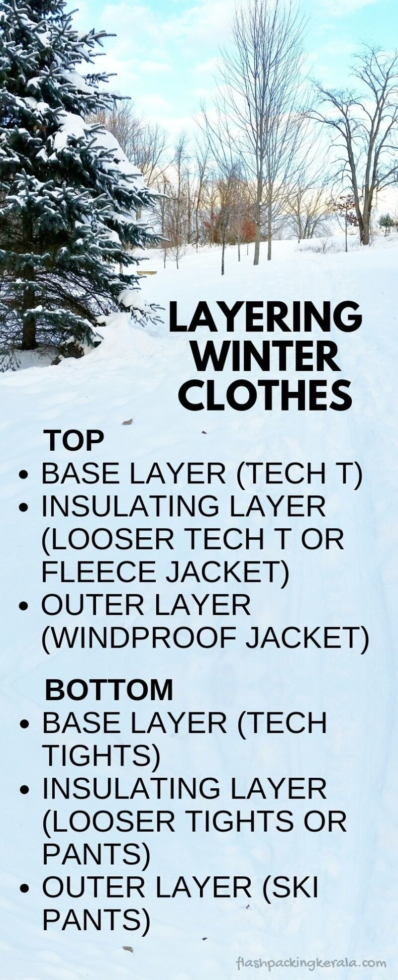 How to layer clothes for cold weather Winter vacation