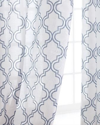 Window Treatments   Ambrosia Sheer Curtains   Neiman Marcus   Sheer Blue  And White Drapes,