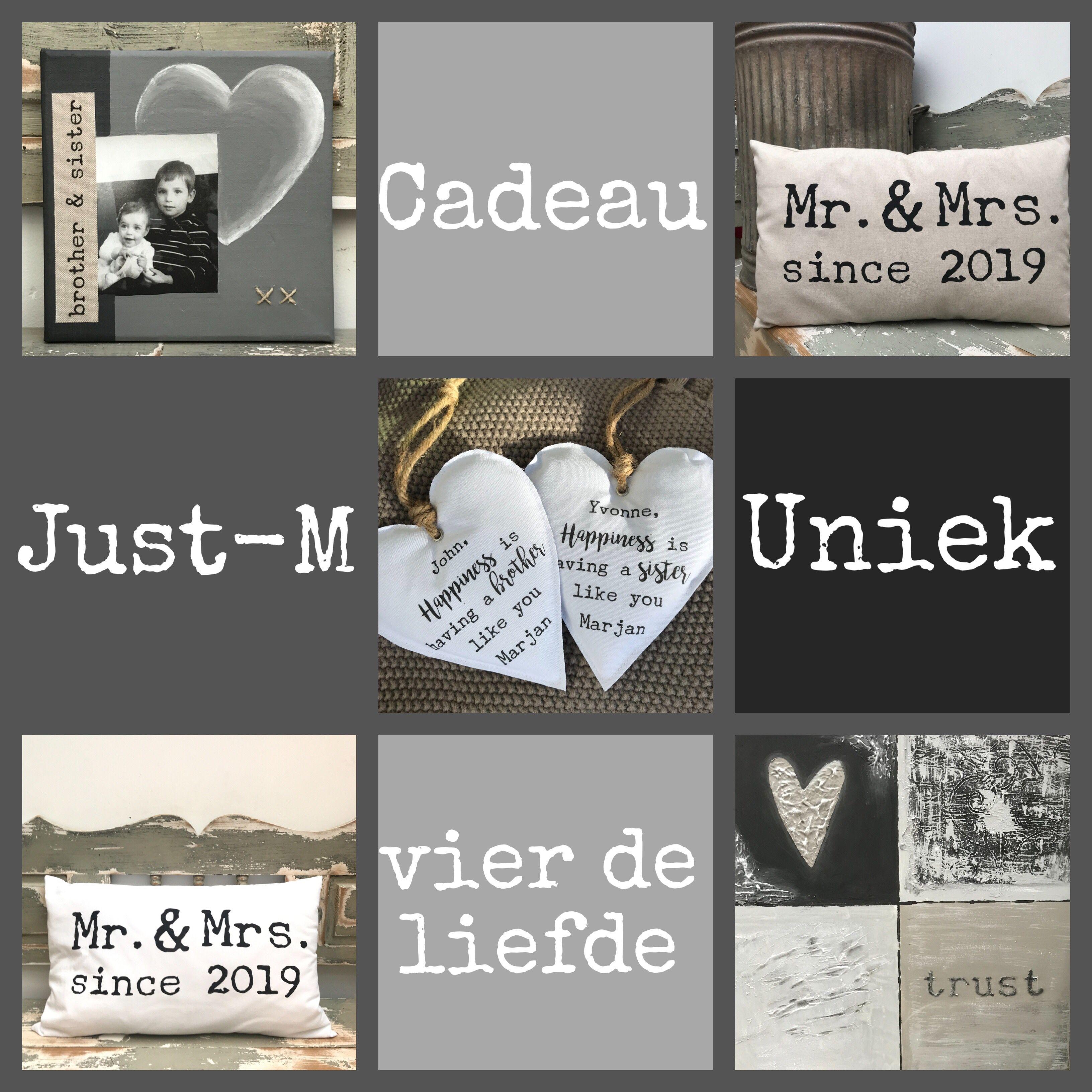 Just M Cadeau Voor Bruiloft En Jubileum En Persoonlijke