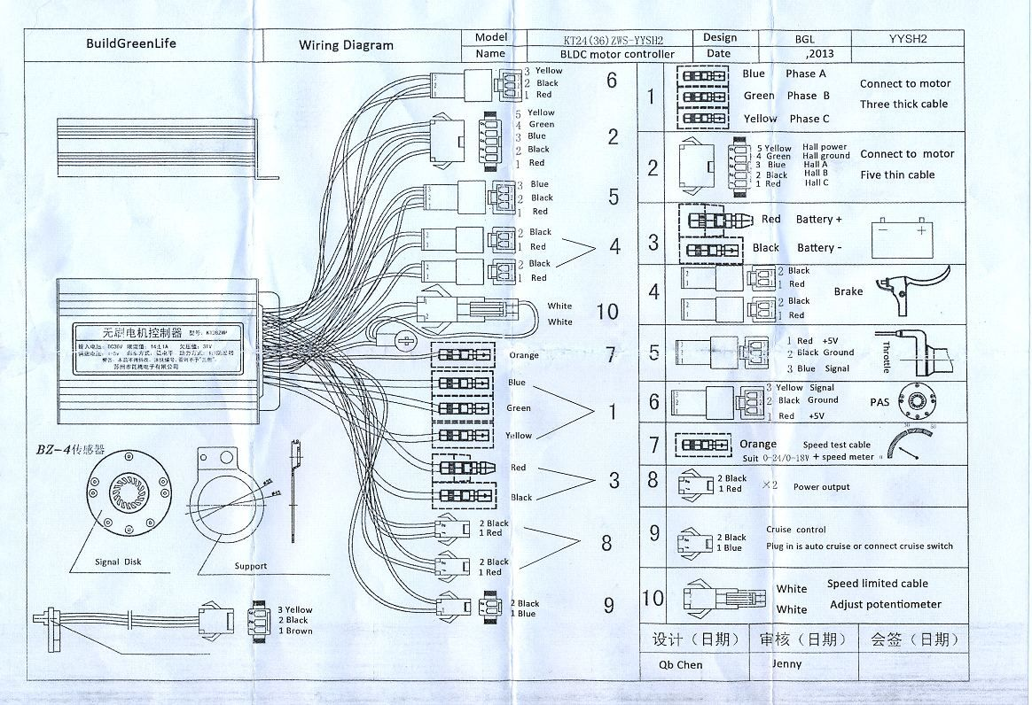 Electric Bike Controller Wiring Diagram Within E