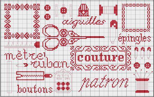 Broderie grilles gratuites broderie couture 1 2 3 flo bricole les gourmandises de flo - Grilles gratuites points comptes ...