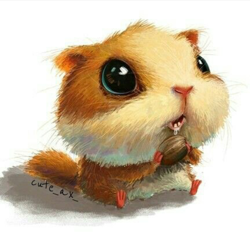Для телефона, милые рисованные картинки животных
