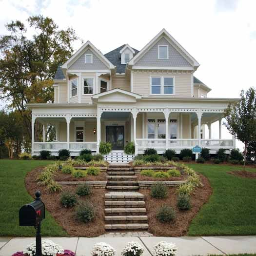 Country House With Wrap Around Porch Country Style House Plans 2772 Square Foot Home 2 Story 4 Victorian House Plans Porch House Plans Farm Style House