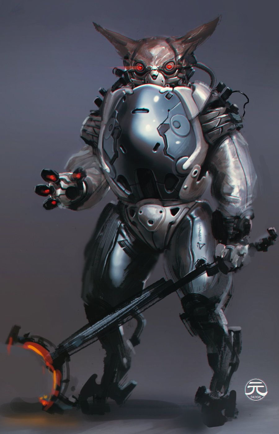 Space Rabbit, Yuan Cui on ArtStation at https://www.artstation.com/artwork/space-rabbit