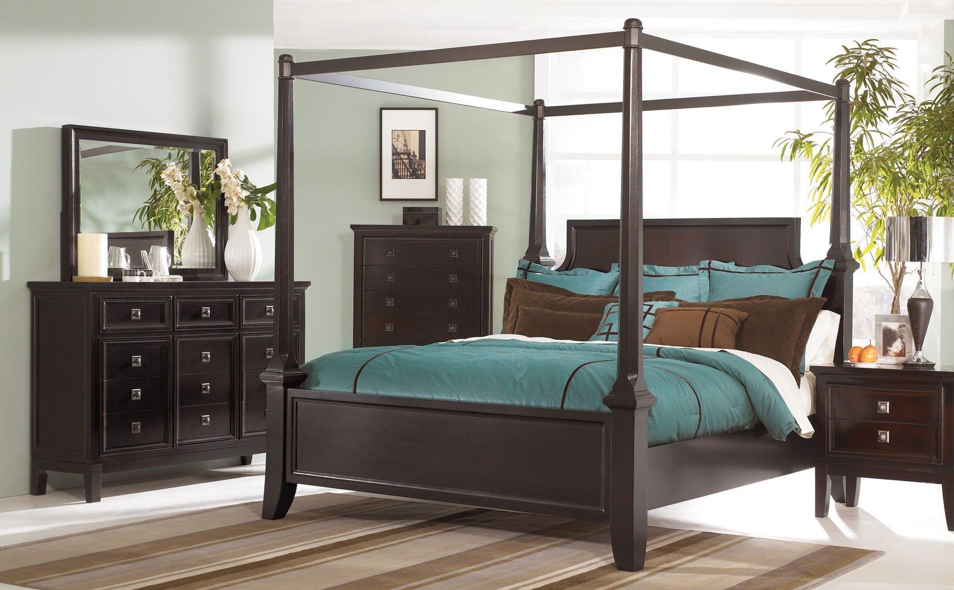 Black Wood Canopy Bedroom Sets   Canopy bedroom sets ...