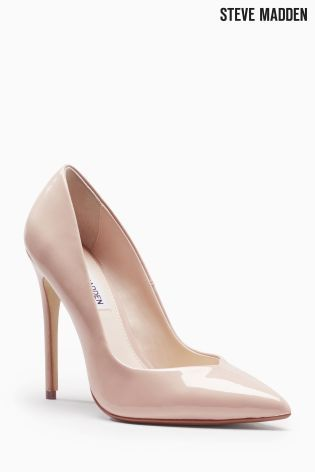 f7e28fee8f7 Steve Madden Nude Patent Wicket Pointed Court Shoe