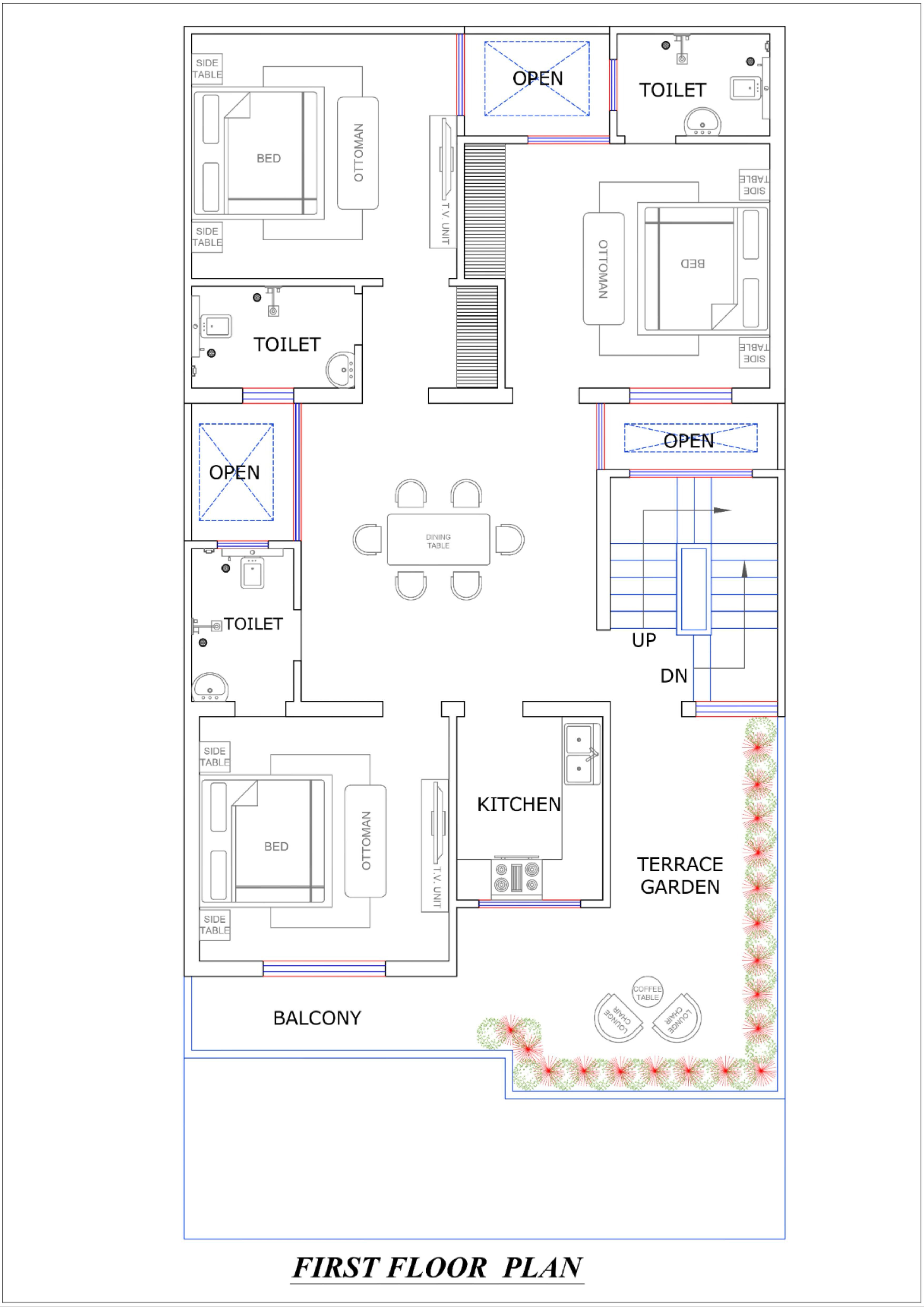 29x59 House Design Plan Home Design Plans Two Story House Design Family House Plans