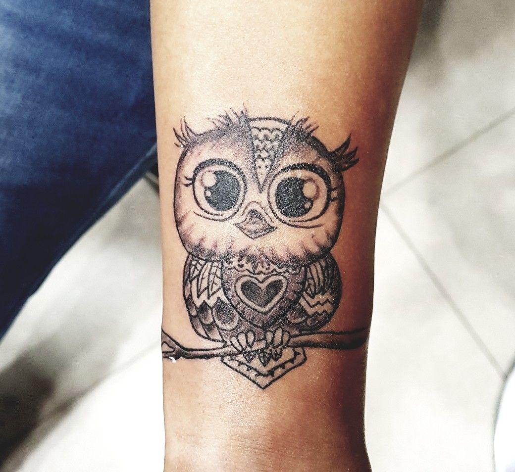 расположения, картинки тату сова на ноге пошаговый