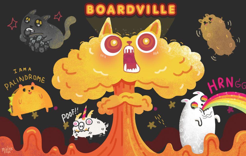 Exploding Kittens Fanart Game Inspiration Cute Drawings Exploding Kittens