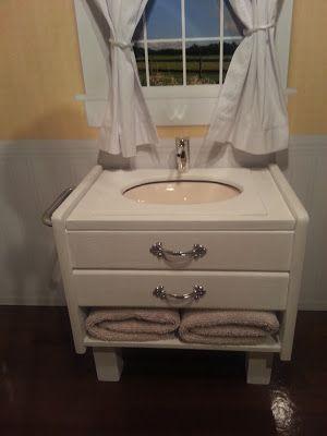 American Doll Crafts And Fun Bathroom Vanity Sink Tutorial