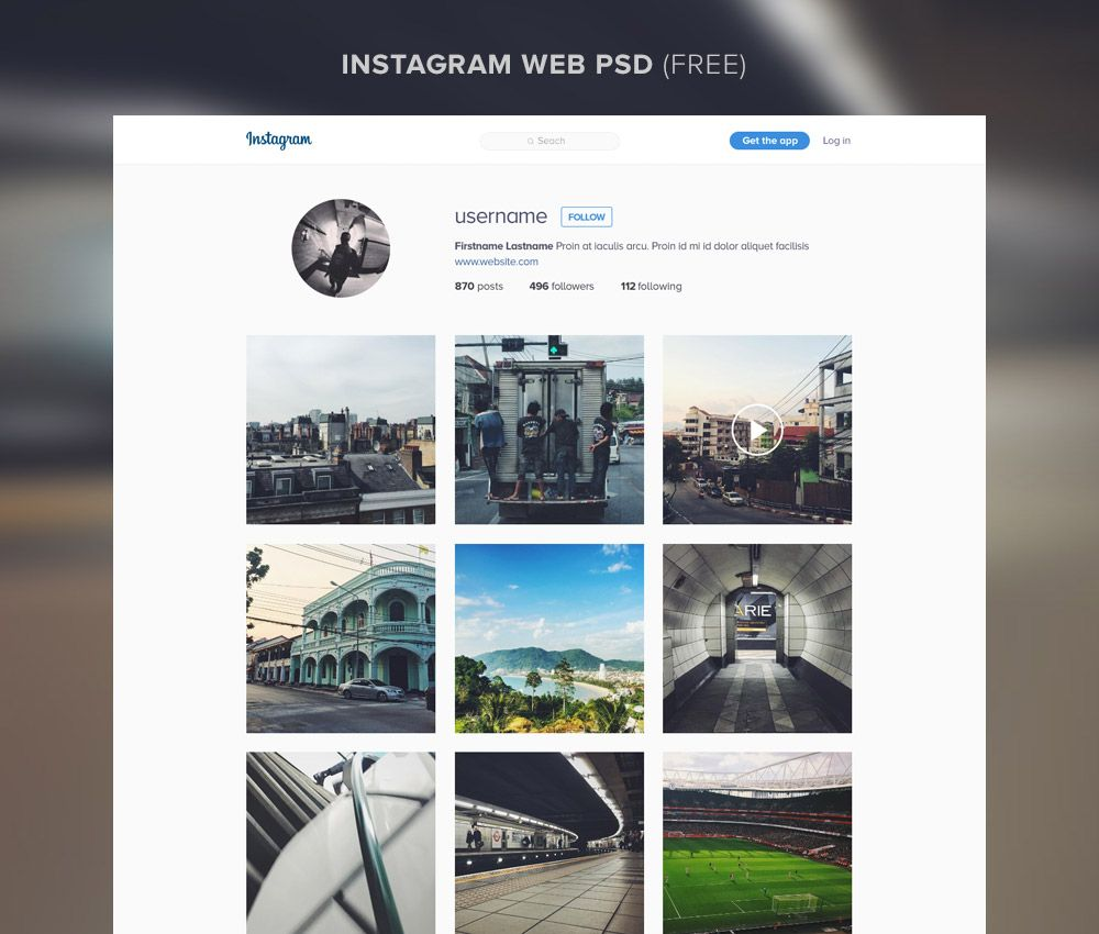 Download Instagram Website Template Free PSD. If you're in