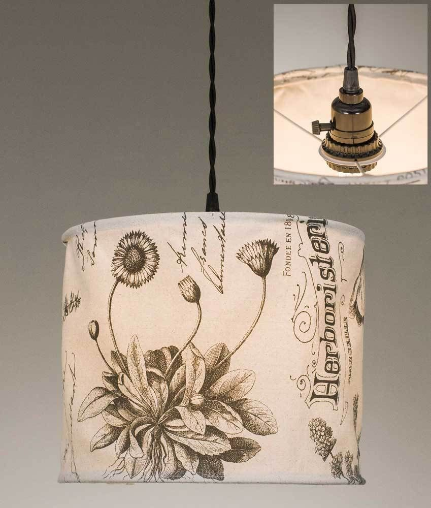 Botanical prints canvas pendant lamp products