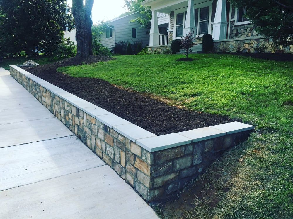 Photo Of Classic Stonescaping Gardens Falls Church Va United States 2ft High Retaining Wall With Ston Garden Retaining Wall Autumn Garden Retaining Wall