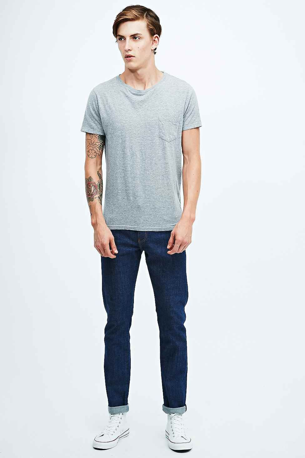 Indigo & Maine Jimmy Slim Selvedge Jeans in Blue Rinse