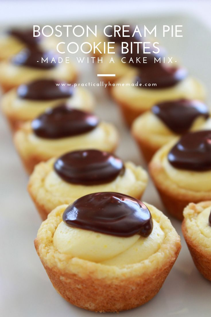 Easy Boston Cream Pie Cookie Bites Recipe | Practically Homemade