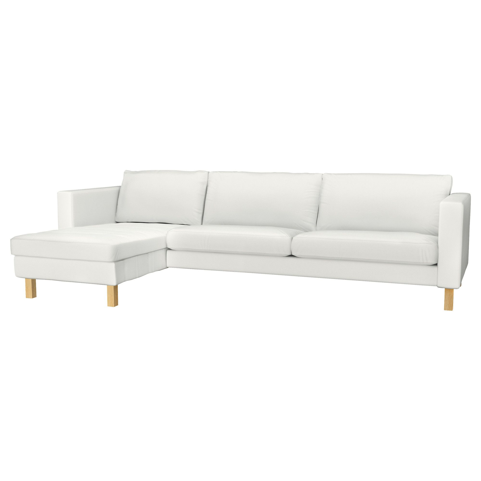 karlstad sofa blekinge white cream full leather chaise sectional and lounge korndal dark gray ikea
