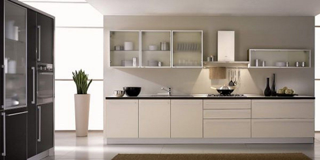 Sleek Kitchen With Frosted Glass Barn Ideas Glass Kitchen