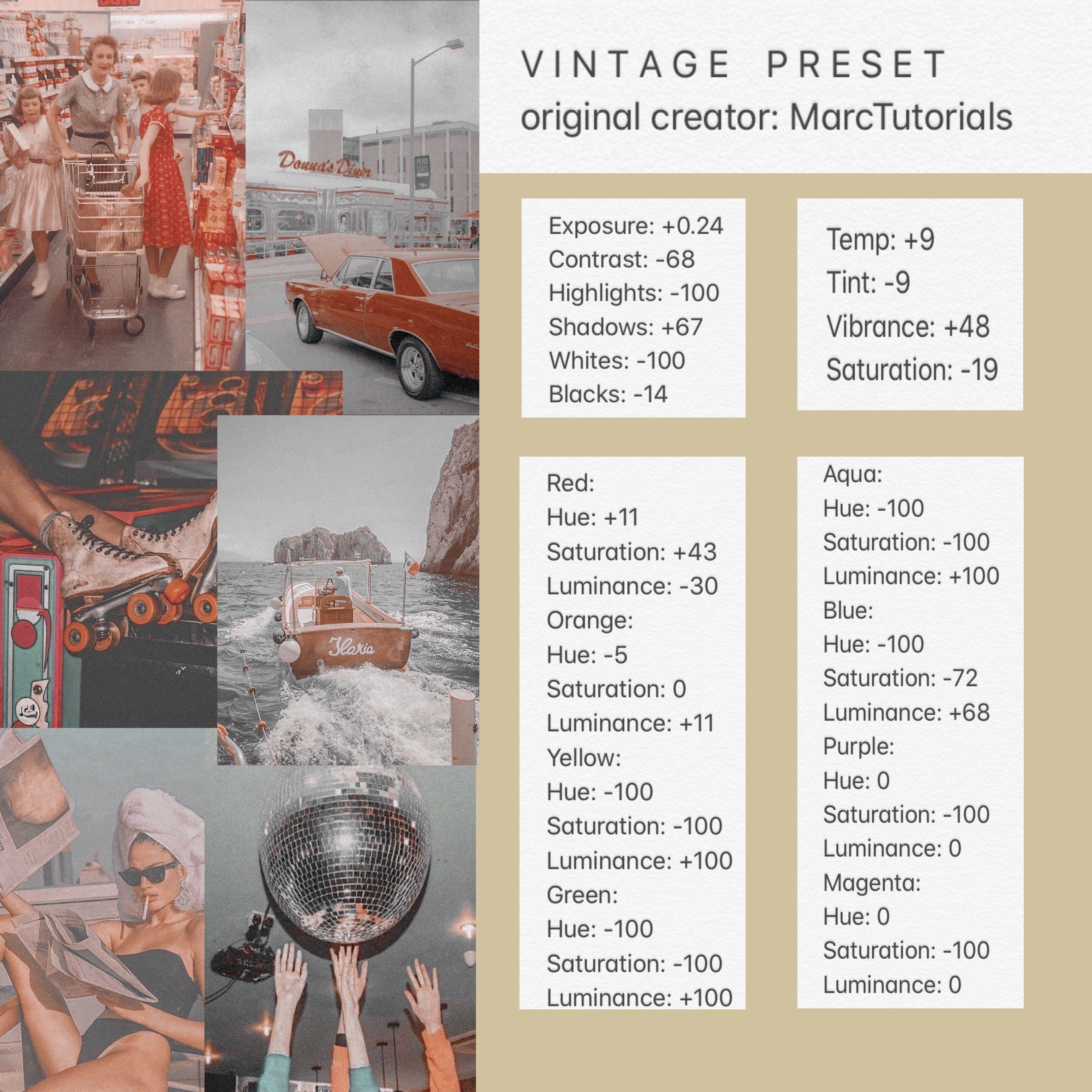 Vintage Preset In 2020 Vintage Lightroom Presets Lightroom Presets Tutorial Lightroom Presets Download