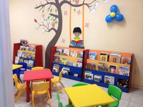 Rincones de clase 5 lectura pinterest bibliotecas for Decoracion salon infantil