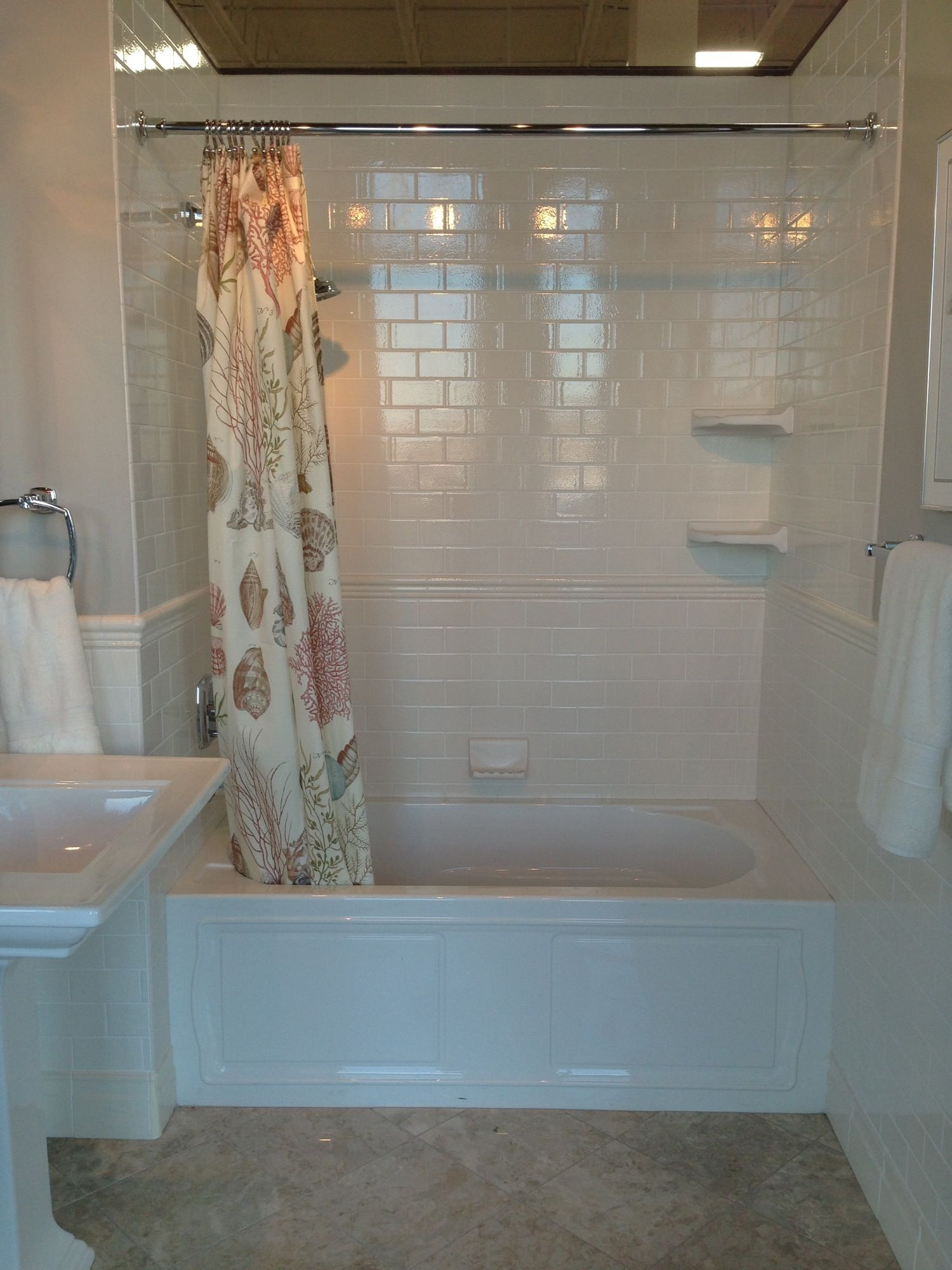 images of bath tubs with subway tile | tiffany blue wall color and