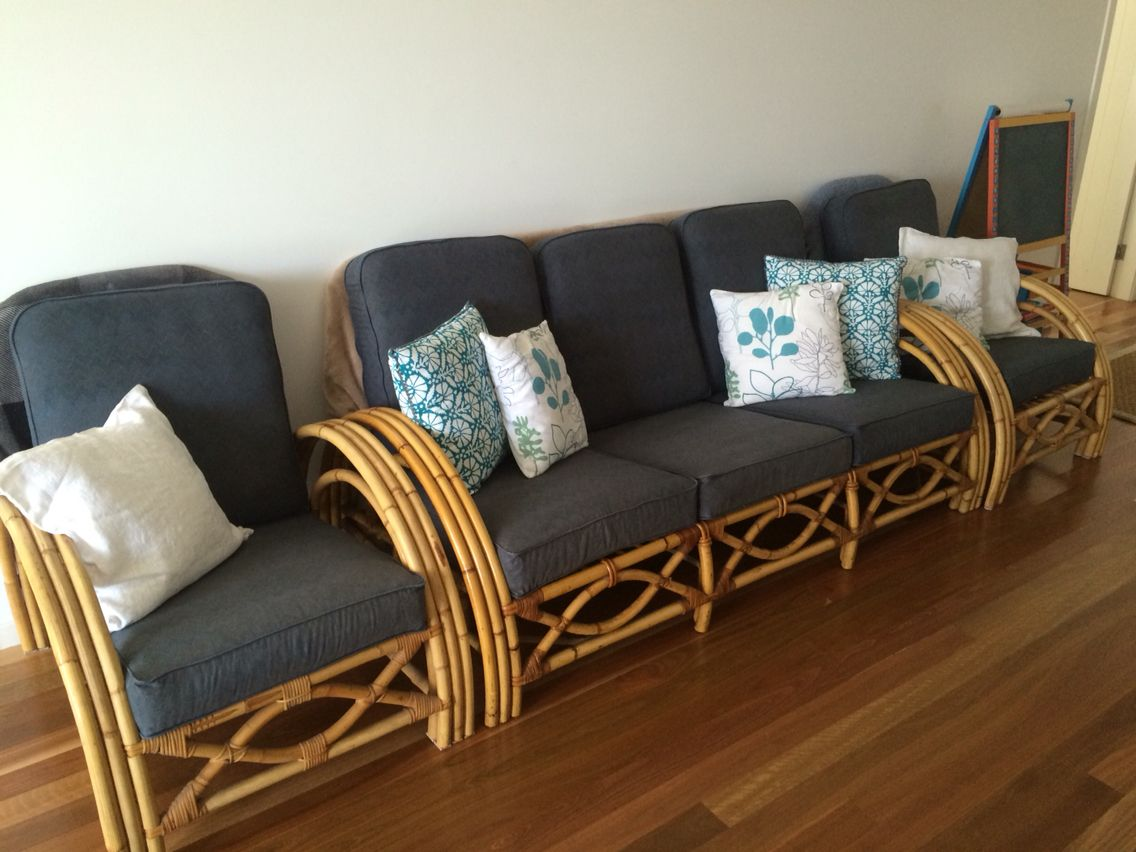 Lounge Chair Covers Spotlight How To Make Bamboo Cane Makeover My Second Hand After
