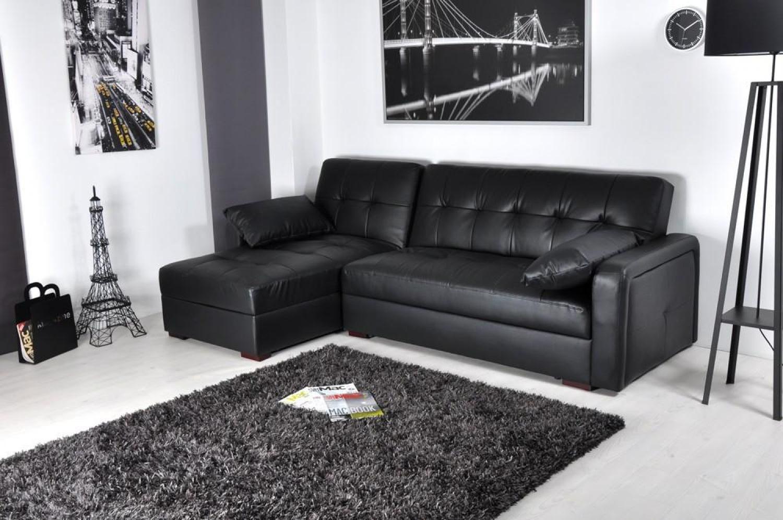 canapé cuir noir convertible 5 – Idées de Décoration intérieure ...
