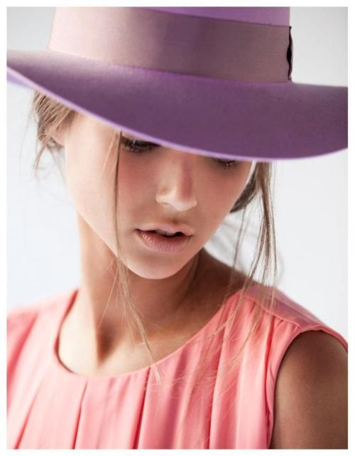 Lilac hat by Coes UK