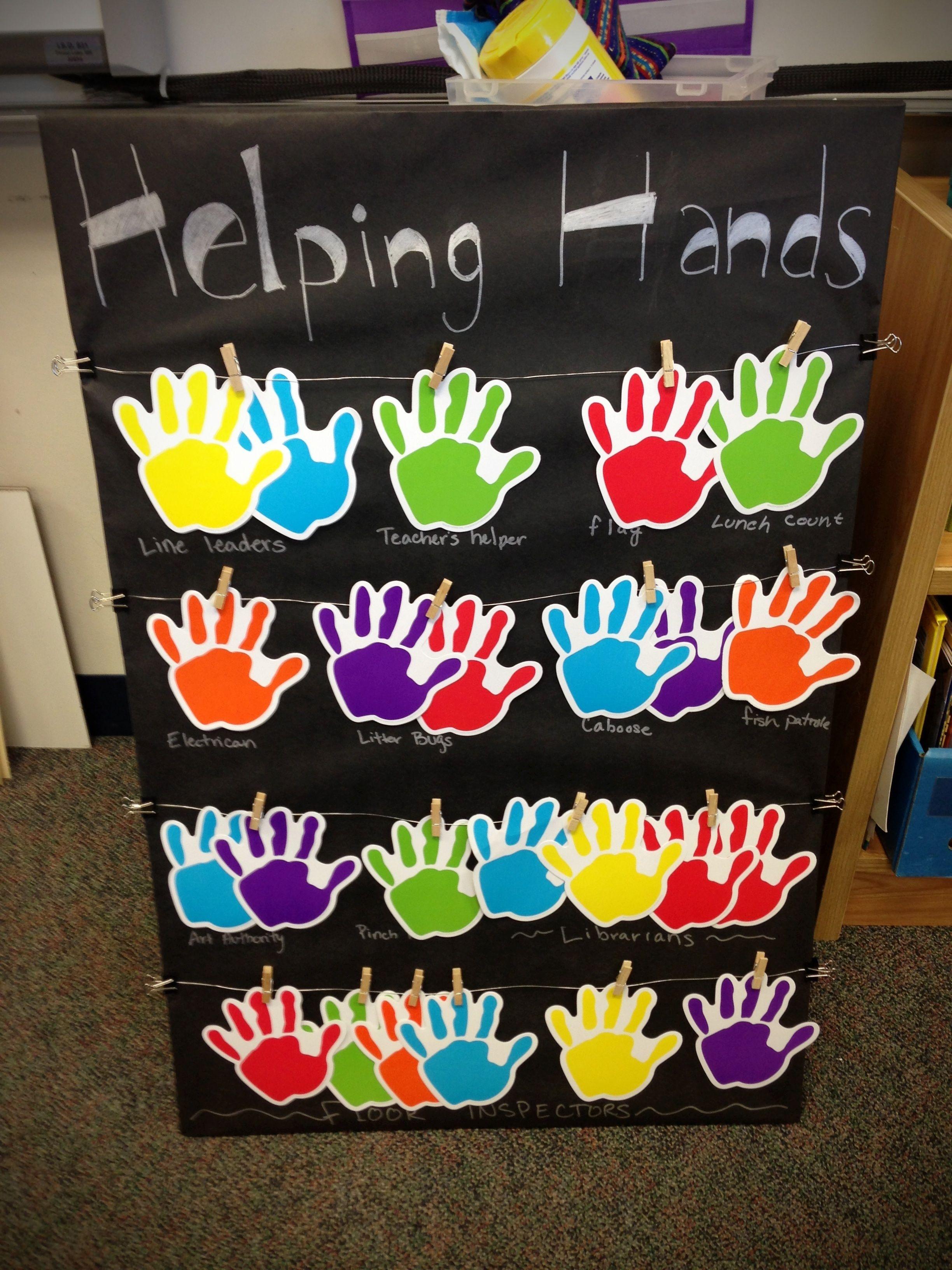 Helping hands classroom jobs board classroom jobs board