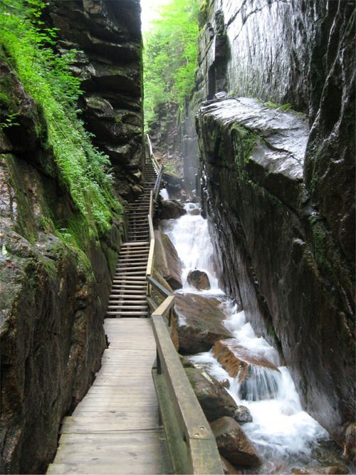 Stairway Franconia Notch White Mountains New Hampshire