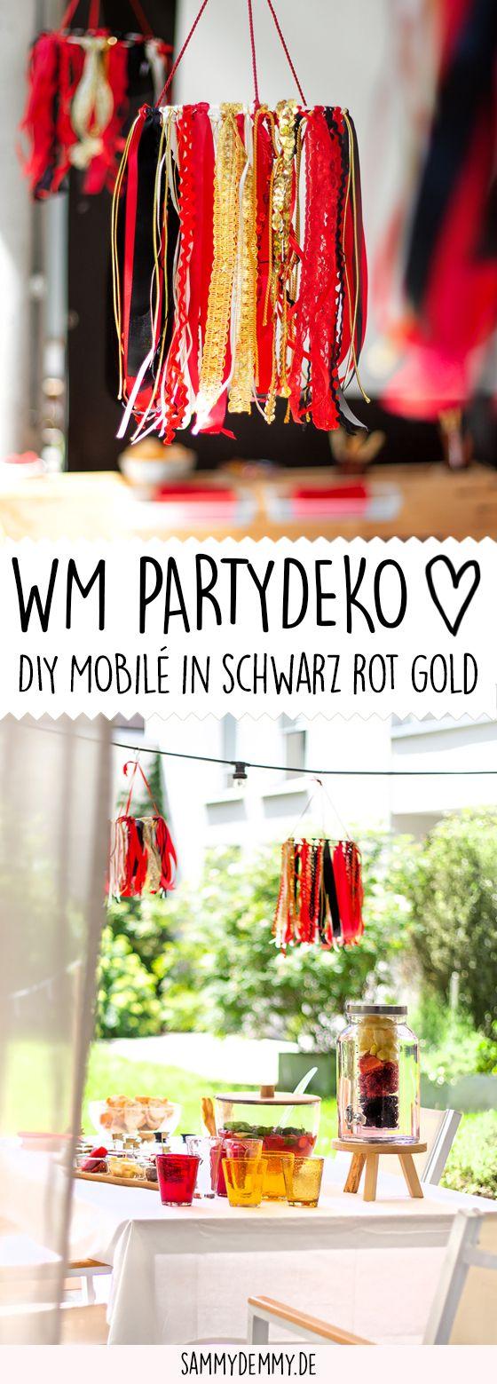 Stilvolle party deko in schwarz rot gold und wm diy diy for Stilvolle gartendeko