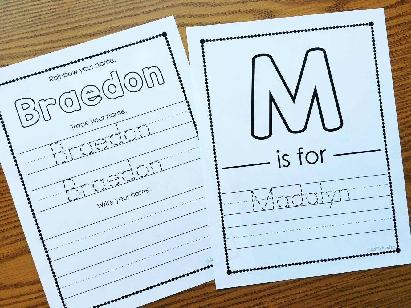 Editable Names Activities For Kindergarten And Preschool