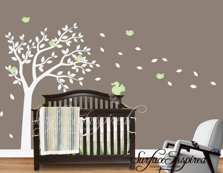 Nursery Wall Decals Large Tree Wall Decal Wall Mural Stickers - Wall decals baby room