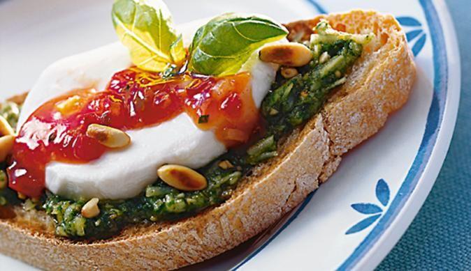 Canapés Pesto