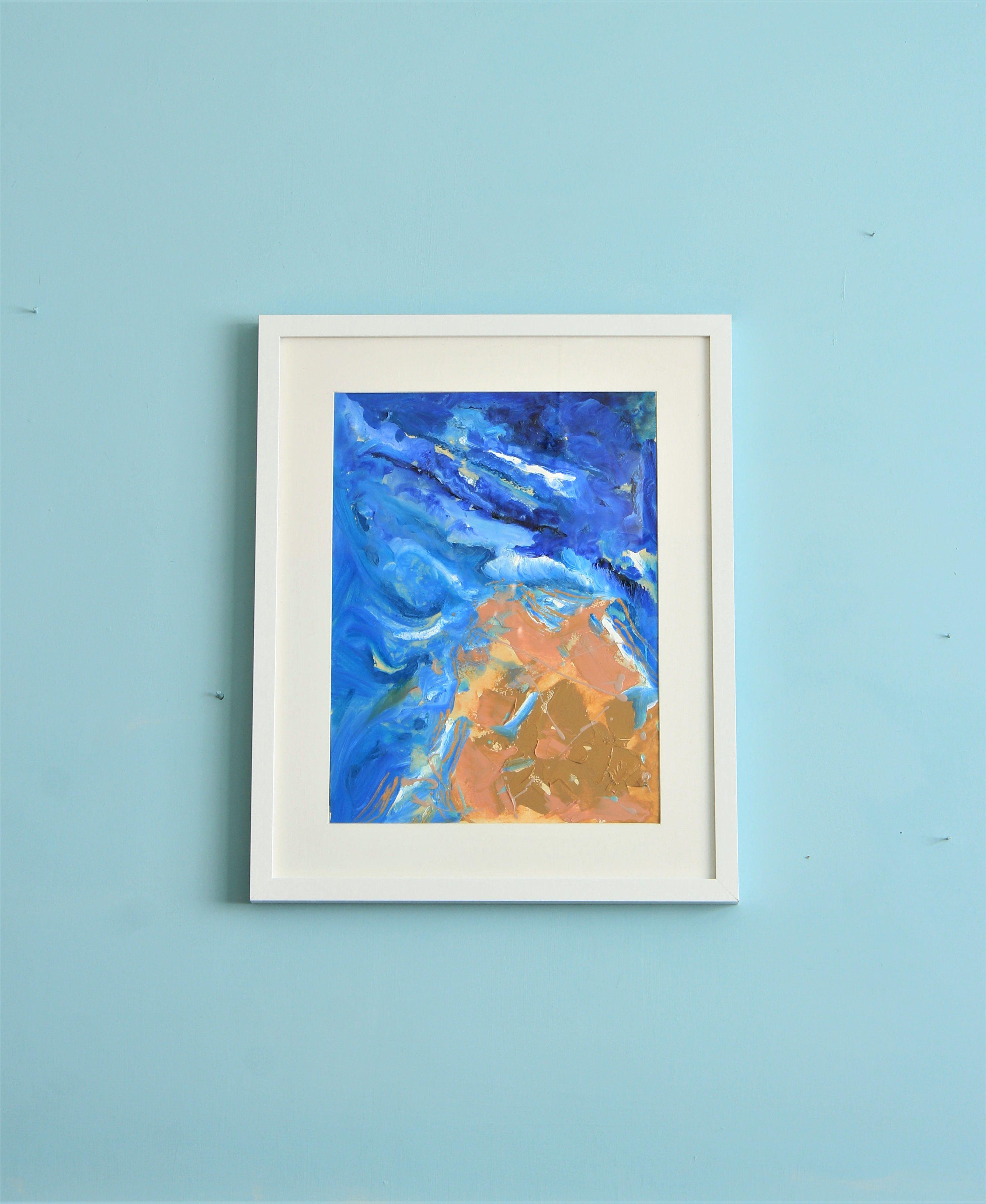 Original Oil Art Painting 12x16 Sea Waves Painting Oil