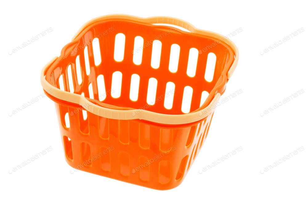 Orange Plastic Basket By Dezign56a S Photos Ad Sponsored Orange Plastic Basket Plastic Baskets Basket Plastic