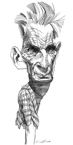 David Levine – portrait de Samuel Beckett