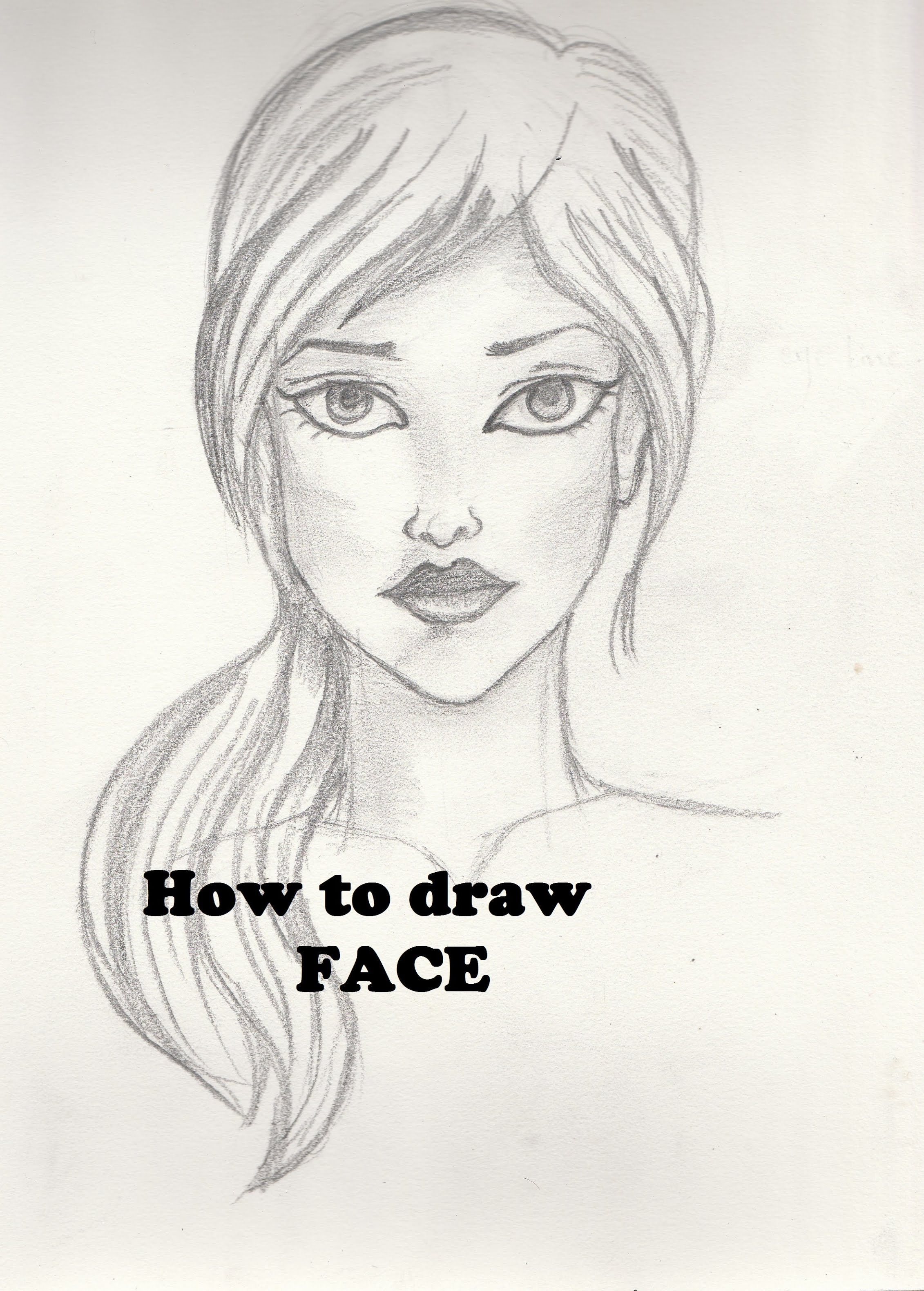 How to draw face tutorial for beginners human face sketch female face drawing